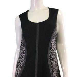 NWT Laura Hlavac Black/White Patterned Dress